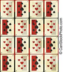 cartes, poker, seamless