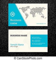 cartes, résumé, vecteur, business, créatif