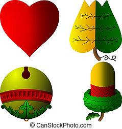 cartes, symboles, hongrois