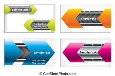cartes, technologie, coloré, business
