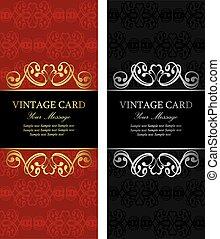 cartes, vendange, luxe