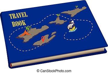 cartes, voyage, livre