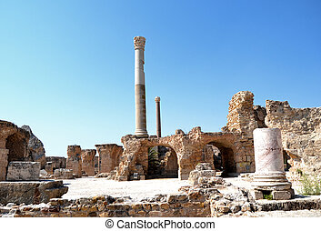 Carthage - Remains of Ancient spas - Carthage - remains of...