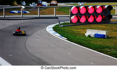 carting race with cars edit cut