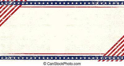 cartolina, americano, grunge