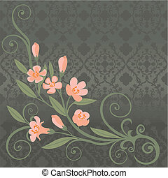 cartolina, fiori dentellare