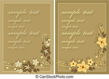 cartolina, fiori