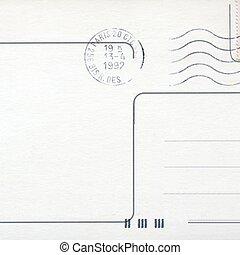 cartolina, francobollo, vuoto