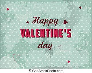 cartolina, giorno valentines, vettore