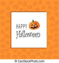 cartolina, halloween