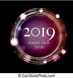 cartolina, nuovo, 2019, anno