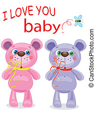 cartolina, orsi, compleanno