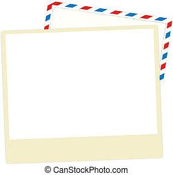 cartolina, posta aerea, vuoto