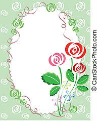 cartolina, rose