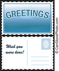 cartolina, saluti