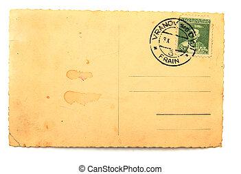 cartolina, vecchio, vuoto