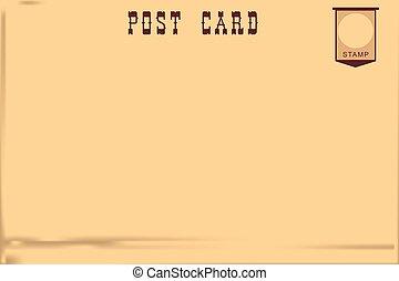 cartolina, vendemmia, vecchio
