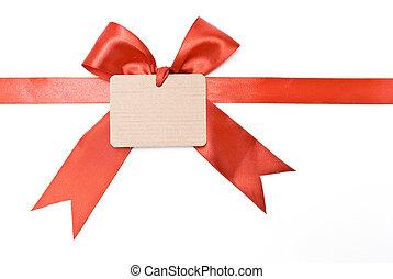 carton, étiquette, cadeau, vide