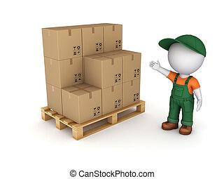Carton box.