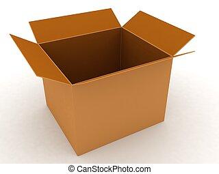 carton box - 3d carton box on an isolated background