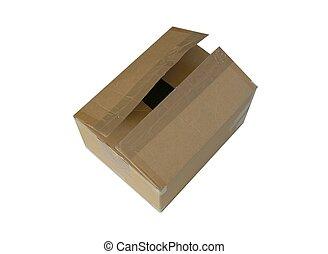 Carton box half opened