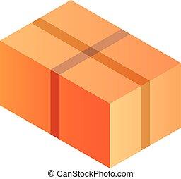 Carton box icon, isometric style
