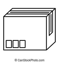 Carton box icon, outline style