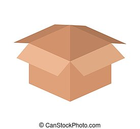 carton box isolated icon design