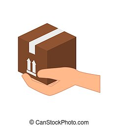 carton box isolated icon