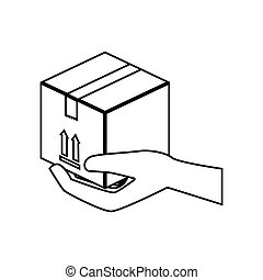 carton box isolated icon