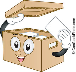Carton Box Mascot