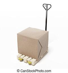 carton box on a pallet