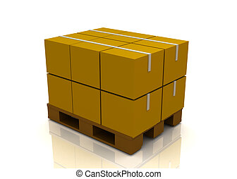 carton boxes on a pallet