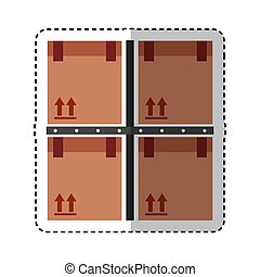 carton boxes packing icon