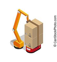 Carton Boxes Set and Special Transportation Robot