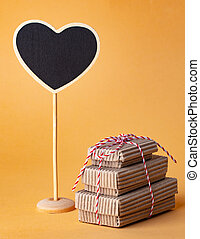 Carton Gift Boxes and Blackboard