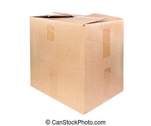 carton, grand, boîte