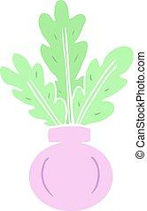 carton houseplant in vase - plant in vase