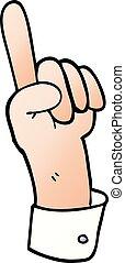carton of hand gesture