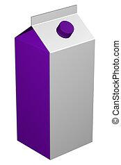 Carton of milk, isolated on white background.