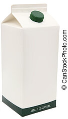 Carton of Milk, Juice or Soy. - 64 oz carton with blank...