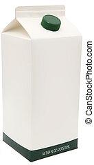 Carton of Milk, Juice or Soy. - 64 oz carton with blank...
