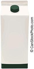 Carton of Milk, Juice or Soy Vector Illustration