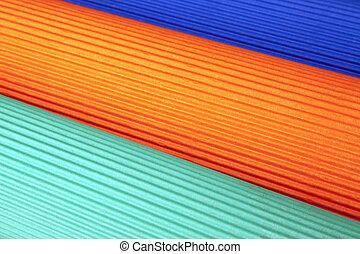 carton ondulé, arrière-plan coloré