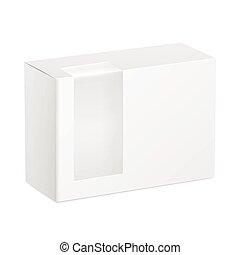 carton, plastique, paquet, transparent, boîte fenêtre