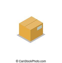 Carton Storage Image Isolated on White Background