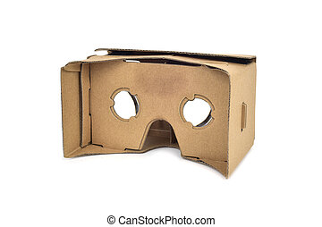 carton, virtuel, lentilles, réalité