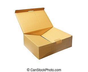 carton, white., boîte