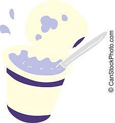 carton yogurt