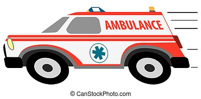 cartone animato, accelerando ambulanza
